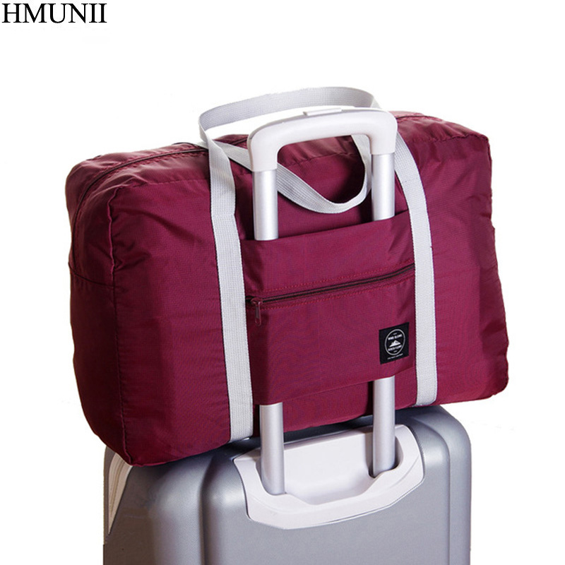 HMUNII High Quality Folding Travel Bag  Polyester Travel Bags Hand Luggage For Men And Women New Fashion Duffle Bag Travel C1-01