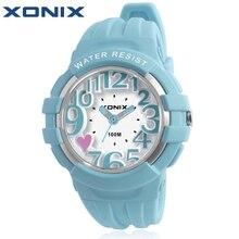¡ Caliente!!! Vestido de Las Mujeres de La Moda XONIX Relojes Resistentes Al Agua 100 Metros Señoras Cuarzo de La Jalea de Natación Buceo Reloj Mujer Montre Femme