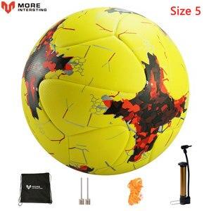 Image 3 - Мяч футбольный, бесшовный футбольный мяч, российский профессиональный размер 4, 5, футбольной премьер лиги, из искусственной кожи, для тренировок