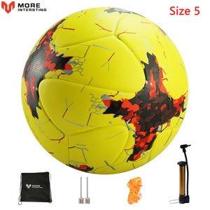 Image 3 - Russland Professionelle Größe 4 Größe 5 Fußball Premier PU Nahtlose Fußball Ball Ziel Team Spiel Training Bälle League futbol bola