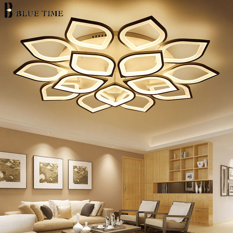 White Acrylic Modern LED Ceiling Light For Living room Dining room Bedroom lamp plafond Led Chandelier Ceiling Lamp Home Lustres anqiue led ceiling lamp beautiful chandelier jingdezhen porcelain light for dining bedroom hotel free shipping