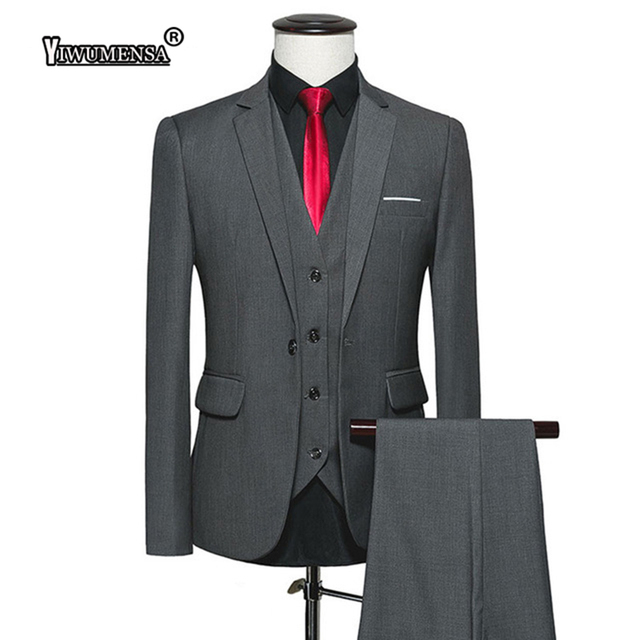 4890e2ad22fc yiwumensa tuxedo Deep Grey wedding suits for men 2018 Cotton Polyester mens  suits with pants Custom