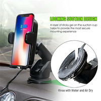 Car Mount Qi Wireless Charger For Samsung s9 s8 Plus Quick Charge Automatic Infrared Sensor Wireless Charger For Xiaomi iPhone