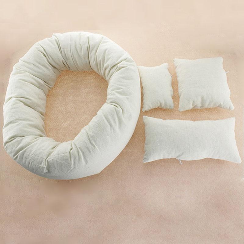 4 Pcs/ensemble Bébé Nouveau-Né Photographie Oreiller Remplissage Panier Blé Donut Posant Accessoires