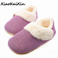 2018 NEW Japanese Couples Slippers Men Super Warm Faux Wool Fur Solid Colors Indoor Rubber Soles