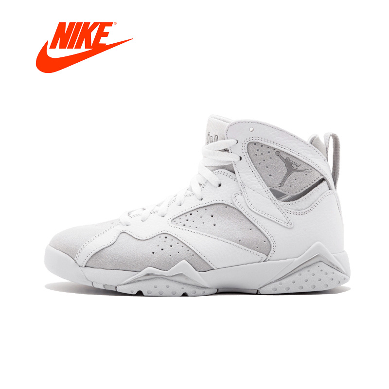 Original Authentic Nike Air Jordan 7 Retro 'Sweater' Men High-Top Leather Basketball Shoes Non-slip Resistant