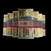 Зимбабве 100 триллиона позолоченная банкнота долларов 1000 шт с деревянной коробкой Бизнес подарки коллекция поддельные бумажные деньги