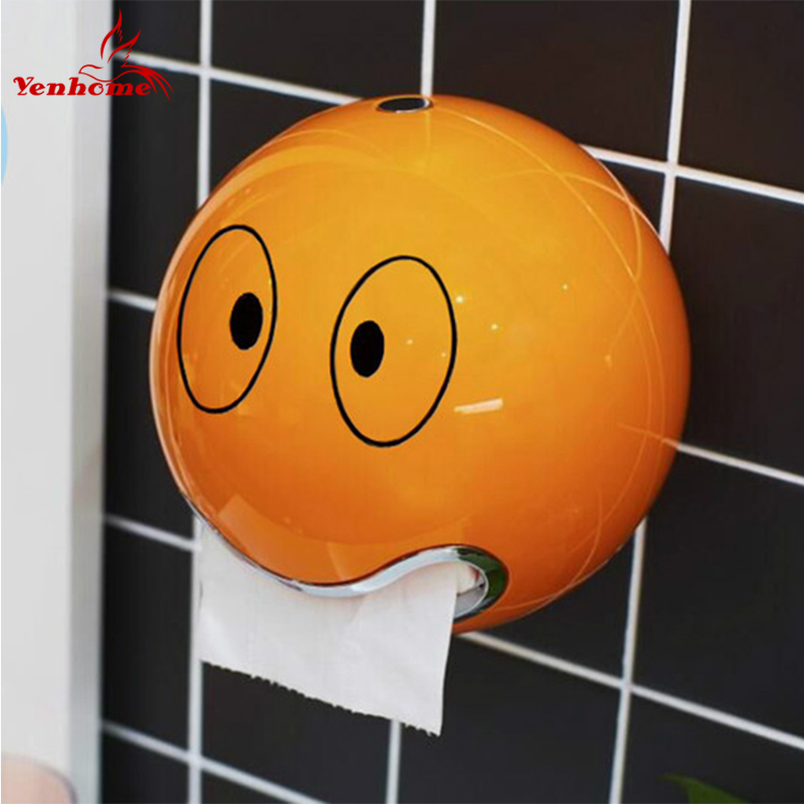 ABS Plastic toilet paper holder bathroom roll paper holder A variety of colors Creative Roll tissue box Free Shipping ZWJ-005 space aluminum paper holder roll tissue holder hotel works toilet roll paper tissue holder box waterproof design