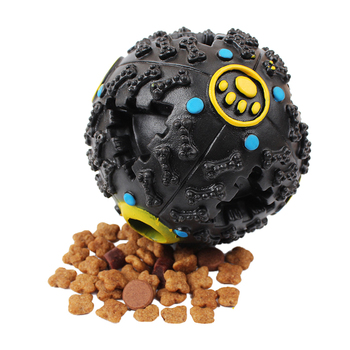 Soft rubber Non-toxic Squeak Chew Toy and Dog Feeding Ball