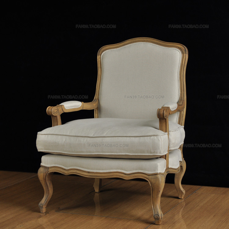 Export The Original Single / Large Single Plant Production / French Country  Oak Armchair Linen / Lounge Chair Spot In Office Sofas From Furniture On ...
