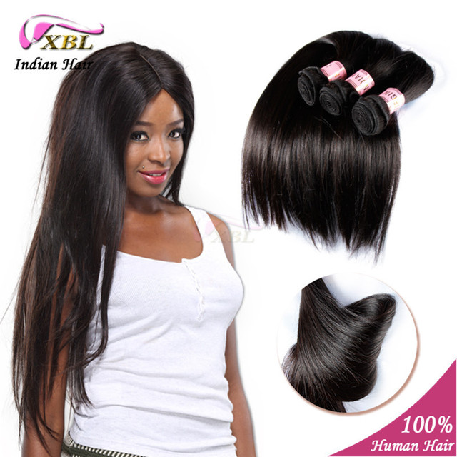 Xbl Unprocessed Indian Virgin Hair Straight Human Hair Extensions