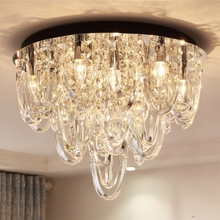 Luxury living room crystal lamp modern bedroom ceiling Jane European restaurant creative lamps Ceiling Lights