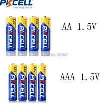 8 шт. PKCELL цинковая углеродная батарея AAA R03P 1,5 в 45 мин+ 8 шт. AA R6P 1,5 в 105 мин основные батареи для использования видео игр MP3 MP4