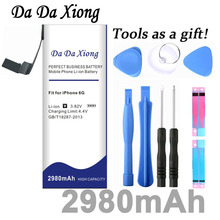 Da Xiong 2980mAh Battery For Apple iPhone 6 for iphone 6G battery Free Tools