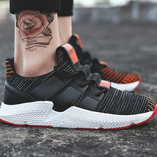 Mens Shoes Casual Plus size 45 designer Sneakers for Men mesh breathable Platform men shoes lace-up 2019 spring