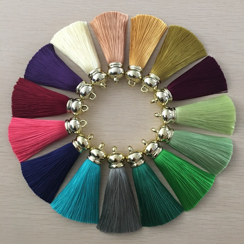 12pcs/lot tassel silk fringe sewing bang flower tassel trim decorative pendant tassels for curtains home decoration accessories