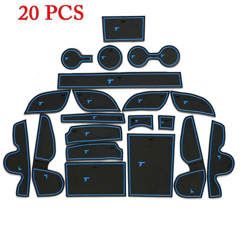 20 Pz/set Auto Interni Antiscivolo Porta Pad Mat Cup Holder Fit For Hyundai Tucson 2016 2017 Car Styling accessori Decorazione