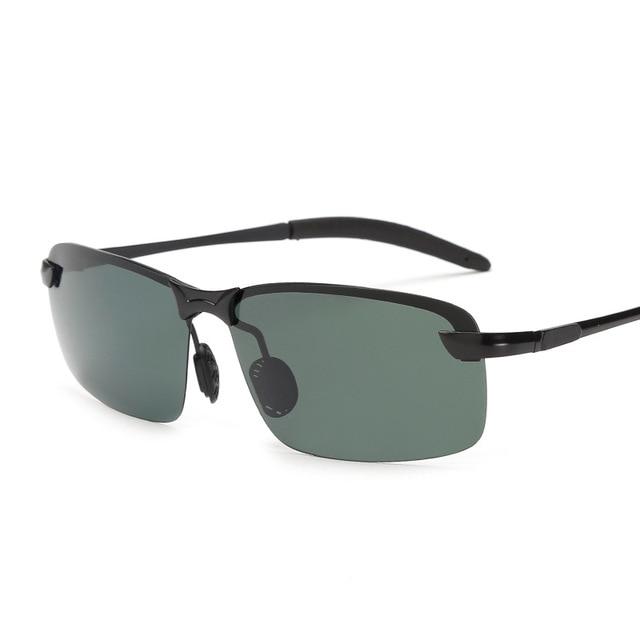 4a37fd83a9a Outdoor UV400 Goggles New Alloy Aluminum Men Sunglasses Brand Design  Polarized Sun Glasses Driving Male Fashion Eyewear Rimless