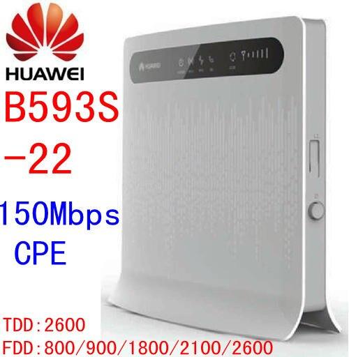 Débloqué Huawei B593s-22 150 Mbps 3g 4G lte CPE mifi wifi Sans Fil routeur 3g 4g Wifi Mobile dongle pk b593 b683 b890 e5172