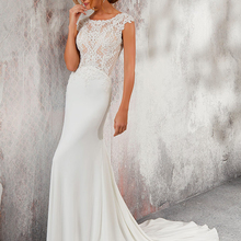 Backless Mermaid Wedding Dresses Sleeveless Court Train