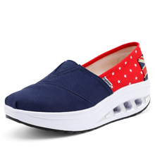 Slimming Shoes Women Fashion Canvas Casual Shoes Women Tenis Feminino Casual Slip on Platform Swing Shoes Summer Top quality