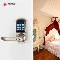 AIBOLI карты пароль smart lock цифровые электронные замки сенсорный экран Anti theft интеллектуальная механический ключ smart Двери местоположение