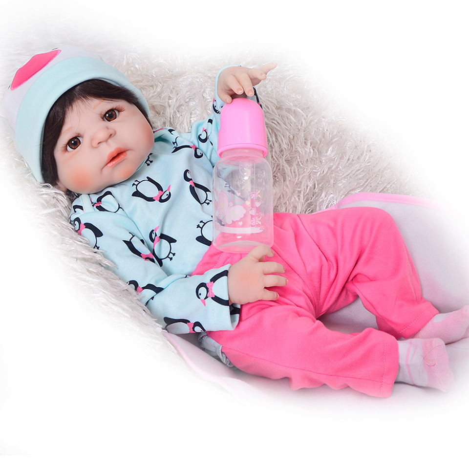 White Skin Reborn Baby Full Silicone Vinyl Dolls Simulation Real Baby Realistic Girl and Boy Bonecas Reborn Toys Bebe Xmas Gifts 22inch 55cm silicone vinyl reborn baby dolls fashion bebe princess reborn girl dolls toys with red dress set bonecas