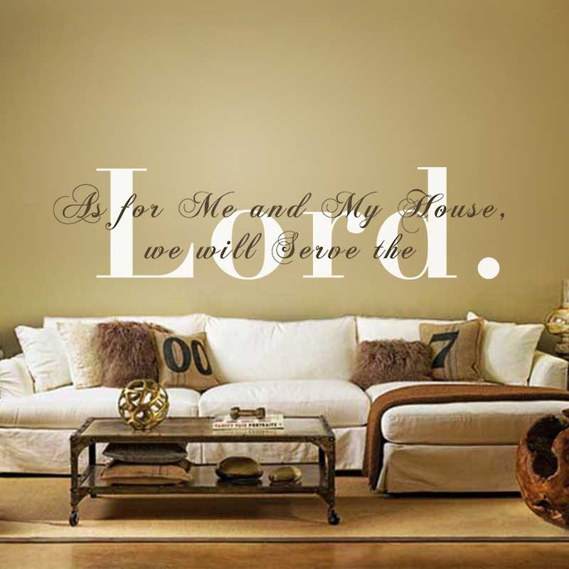 Vinyl Wall Decal As For Me And My House We Will Serve The Lord. Monogram  Religious Wall Quote Home Decor Wall Stickers In Wall Stickers From Home U0026  Garden ...