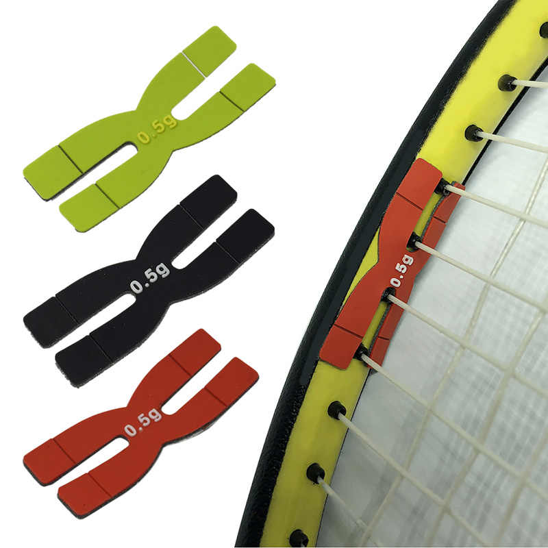 Wholesale Portable 0.5 g Lightweight Silicone Balance Bar Badminton Tennis Racket H-type Balance Strips Racket Accessories