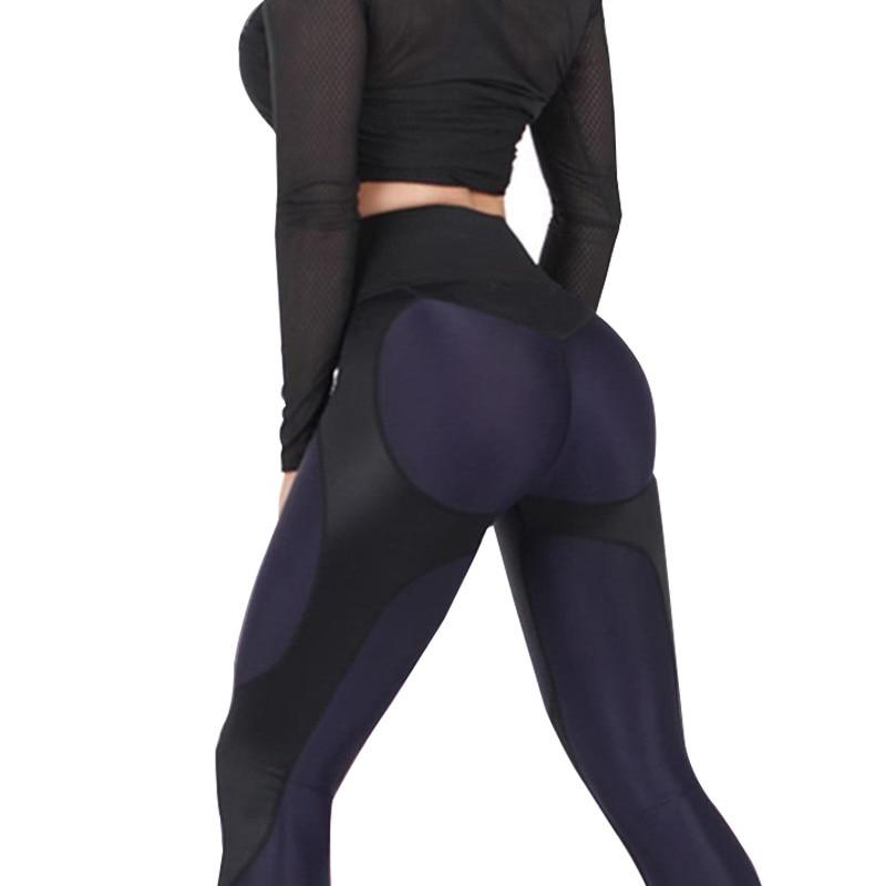 NORMOV Female Legging Women Polyester High Waist Ankle-Length Pants Patchwork Push Up Fashion Female Legging Fitness Leggins