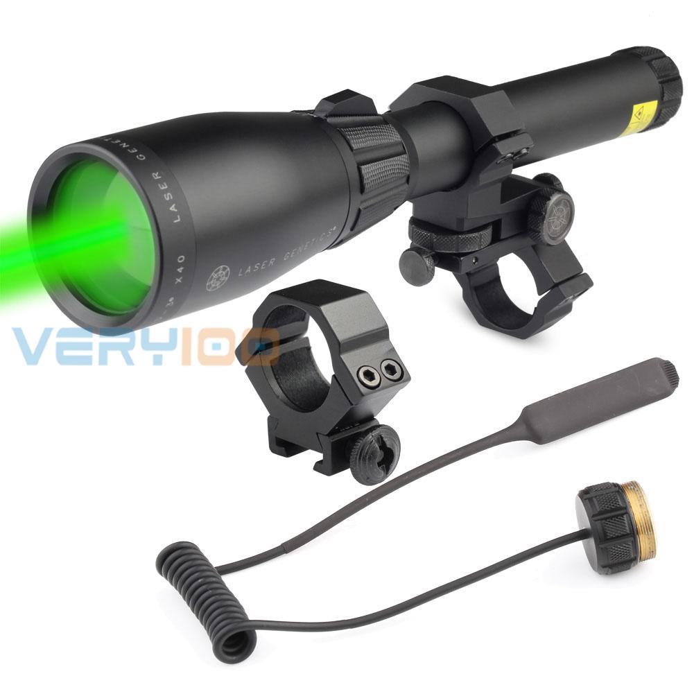 Laser Genetics ND3 x40 Designador láser verde de larga distancia con soporte Nuevo