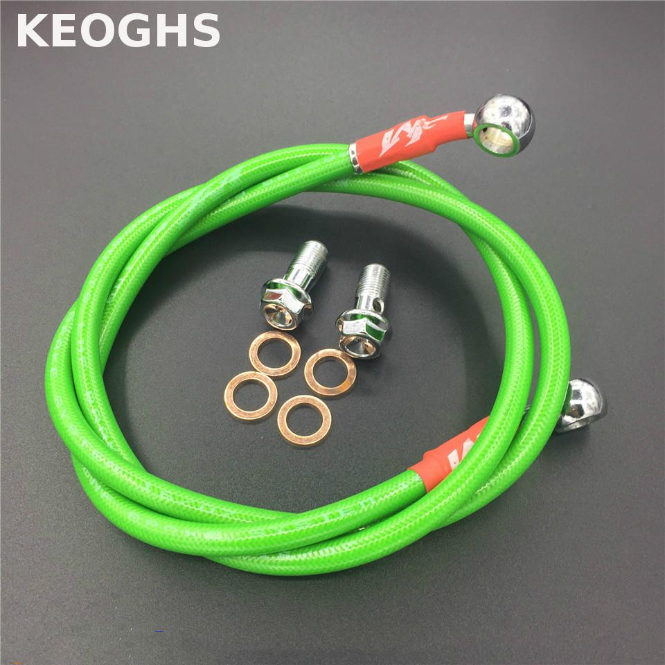 KEOGHS Motorcycle Brake Pipe Hydraulic Reinforced Brake Or Clutch Oil Hose Line Pipe Fit Atv Dirt Pit Bike Tubing Braid Steel motorcycle 500mm 2000mm braided steel hydraulic reinforced brake clutch radiator oil cooler hose line pipe tube 28 degree banjo