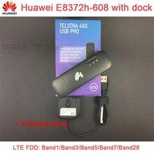 Разблокировать оригинальный huawei E8372 E8372h-608 черный цвет с док-станции LTE USB 4 г USB Wi-Fi Модем + обмен base