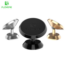 FLOVEME Universal Magnetic Car Phone Holder For iPhone Samsung 360 Rotation Magnet Stand Mobile Support