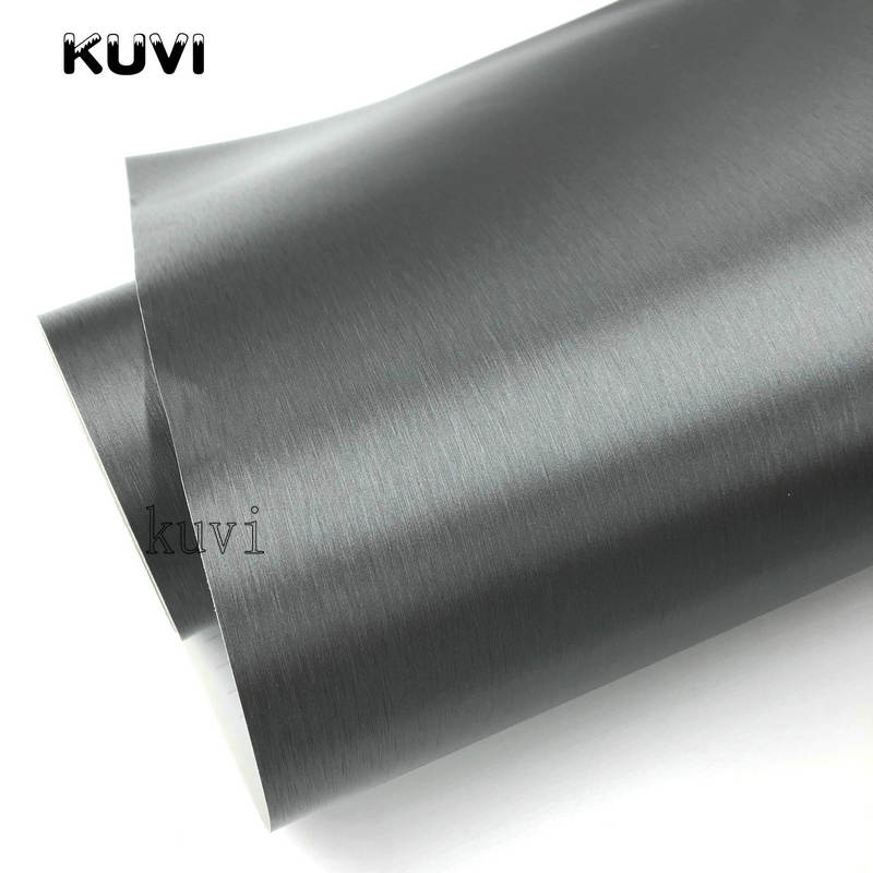 Image 3 - 10cm/20cm/30cmx152cm Car Styling Grey Metallic Brushed Aluminum Vinyl Matt Brushed Car Wrap Film Sticker Decal With Bubble-in Car Stickers from Automobiles & Motorcycles