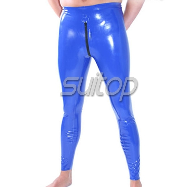 8250ebdeae65d2 Suitop latex legging with crotch zip-in Skinny Pants from Men's ...