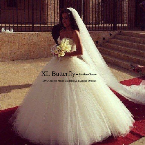 Vestido De Noiva Sweetheart Sparkly Sequined Puffy Skirt Tulle Ball Gown Wedding Dresses 2017 Long Train