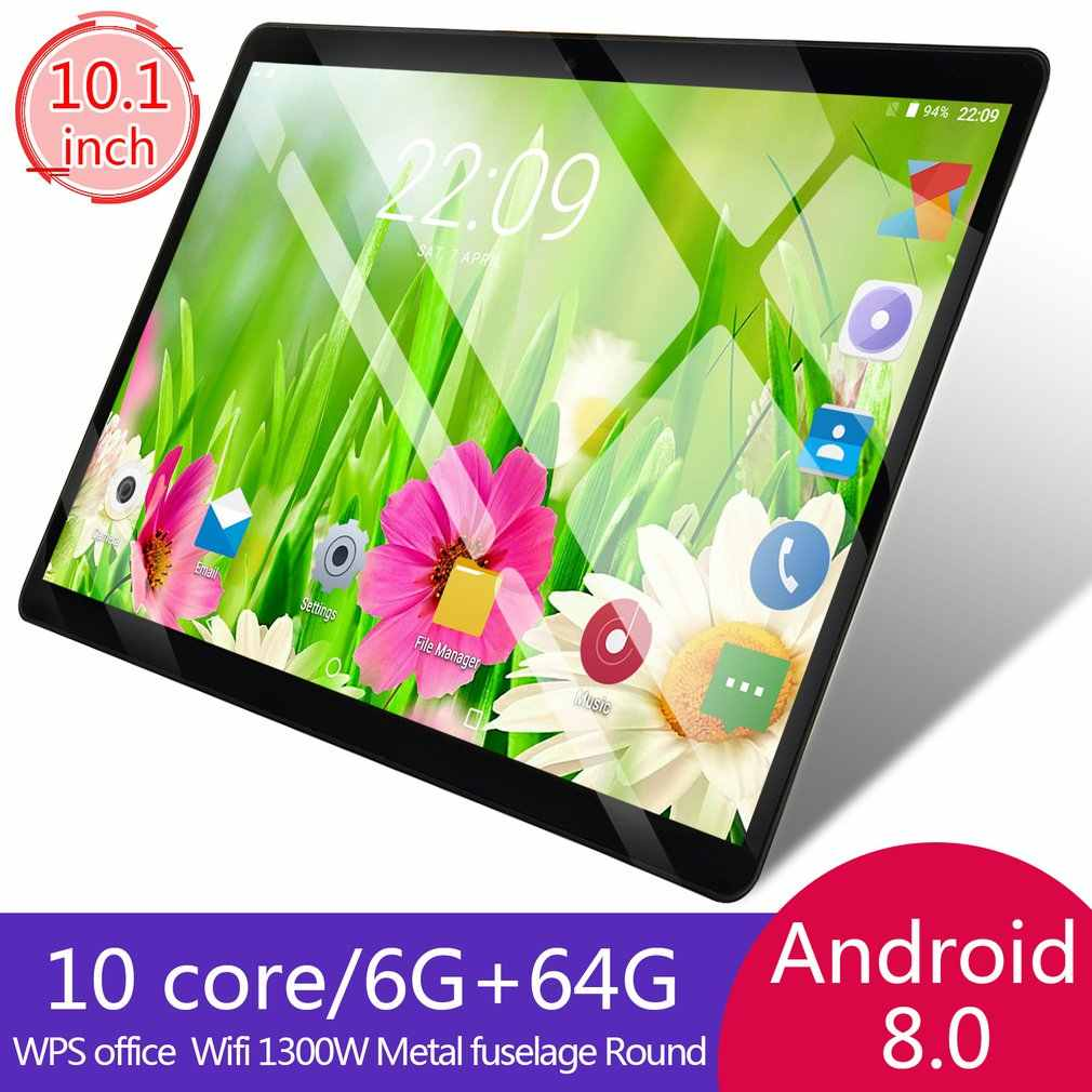 10.1 pouces tablette 3G appel Wifi Bluetooth Super tablettes Ram 1GB Rom128GB WiFi GPS 10.1 tablette