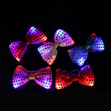 100pcslot halloween christmas wedding party glowing tie light up toy femalemale flashing led bow tie dancing stage decoration - Light Up Christmas Tie