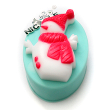 Christmas Silicone Soap Mold Snowman DIY Craft Chocolate Candy Mould