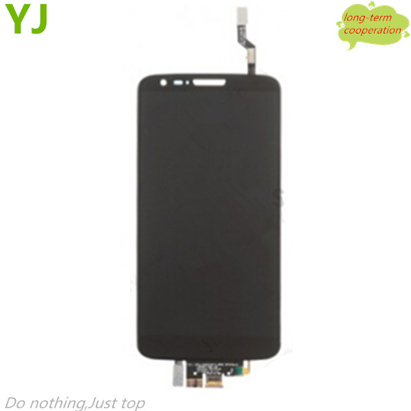 HK free 100% Tested AAA LCD Screen and Digitizer Assembly for LG G2 D802 - Black