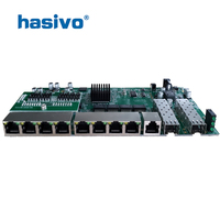 POE reverse Switch board with web management, 2 Port SFP + 8 Ports GE Rj45 Operational PD switch