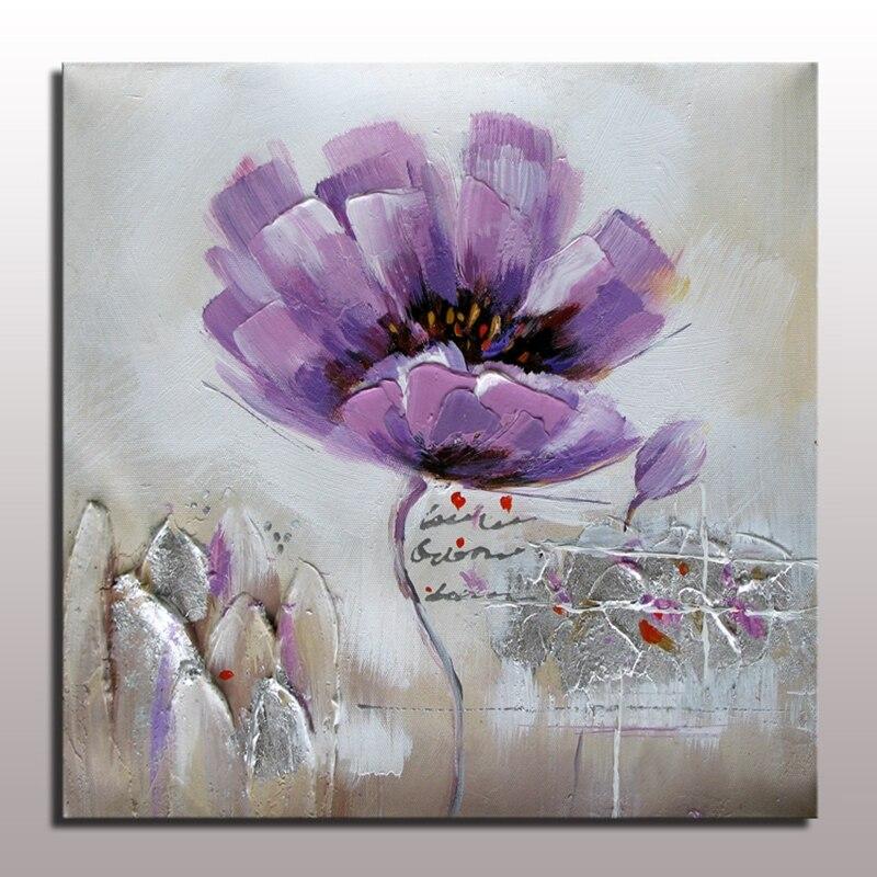 Buy modern flower painting handmade oil for Modern flower paintings