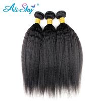 3 Bundle Deals Kinky Straight Human Hair Extensions 300g Indian Hair Weave Bundles Non Remy Hair