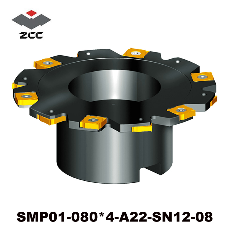 CNC Milling tool SMP01-080*4-A22-SN12-08 indexable face and side milling tools for insert XSEQ1202 cnc milling tool smp01 100 4 a27 sn12 10 with 10pcs xseq1202 carbide milling inserts indexable face and side milling head