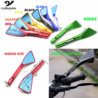 Universal Folding Motorcycle Cnc Rearview Side Mirror Motorcycle Accessories Kit For Harley Touring Kawasaki Z800 Z
