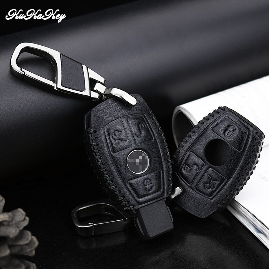 Leather Car Key Case Cover for Mercedes Benz CLK ML SLK B C E S Class Keychain Ring Accessories Car Styling for Mercedes Benz free ship camcorder car for mercedes benz s class 2007 12 middle configuration car dvr camera with one lens and obdii adapter