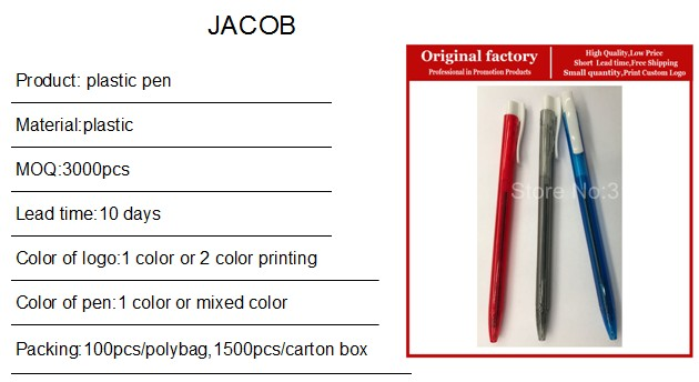 Simples e barato de plástico promocionais canetas