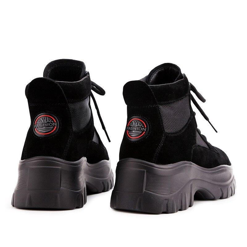 À Med attaché Épaisses Hiver Semelles Femmes Chaussures Pour De Croix Vulcaniser Mode Solide Plate Décontracté Noir Lacets Sneakers Coudre Femelle forme tdChsQr