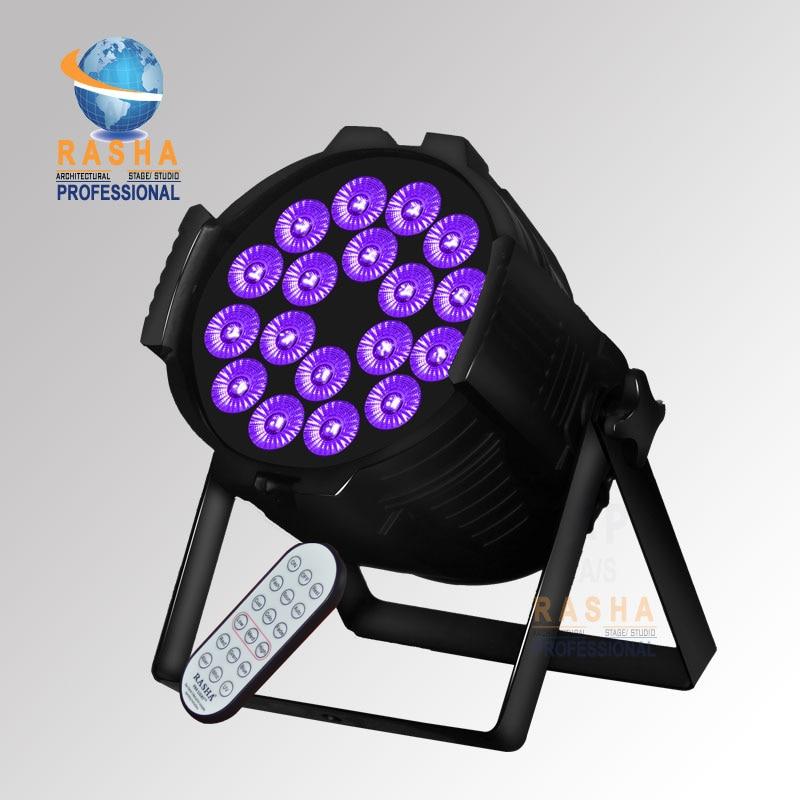 Rasha Hex 18*18W 6in1 RGBAW UV LED Par Light IR Wireless Remote Control,Aluminum LED Par Can With DMX Powercon For Stage pro svet light psl led uv 18 dmx
